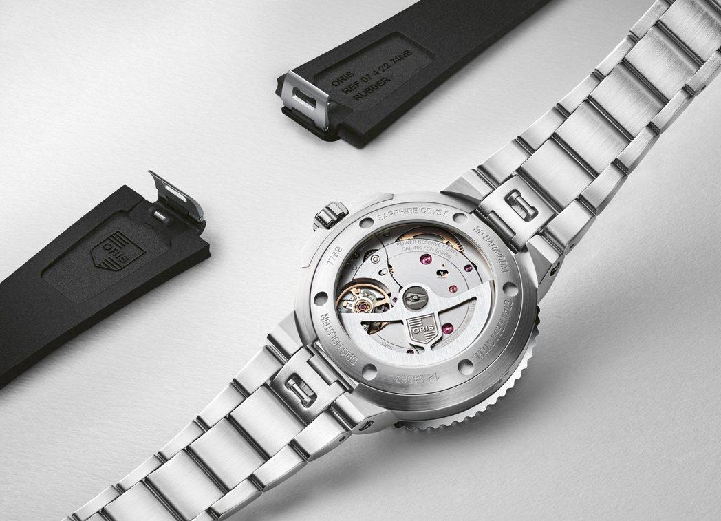 Oris Aquis Calibre 400 日期錶(41.5mm),搭配專利快...
