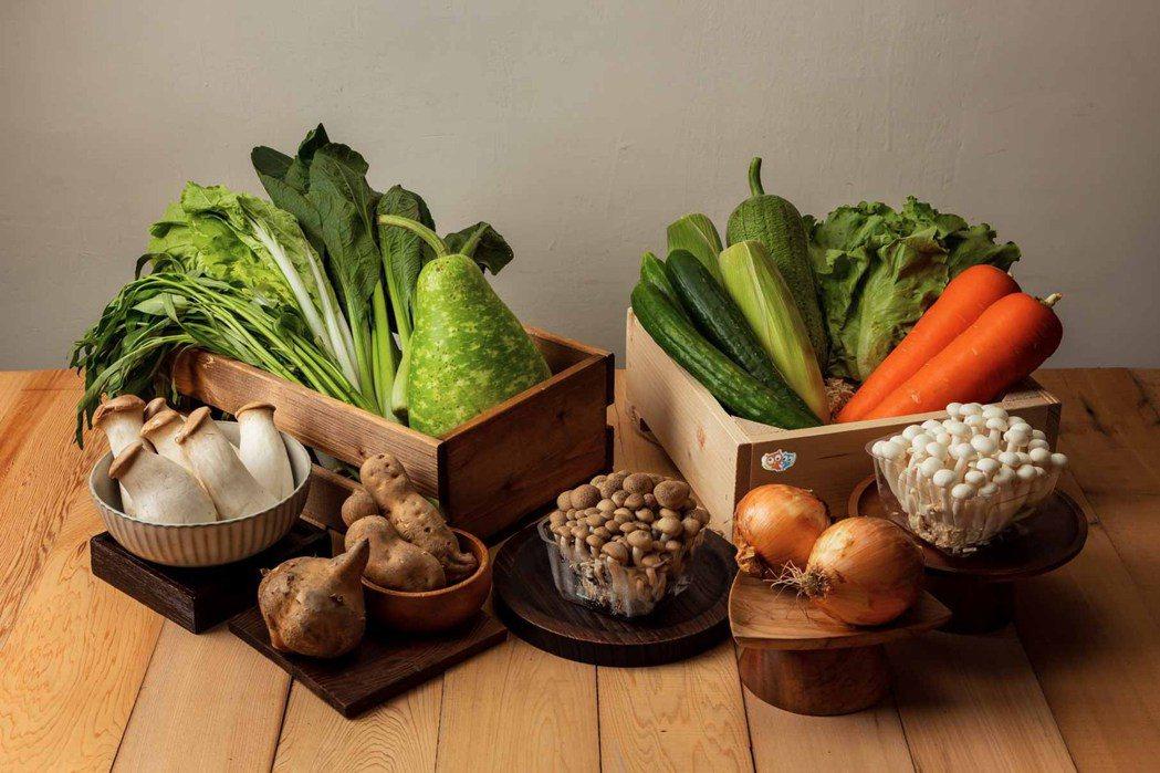 奧丁丁市集推出六款蔬菜箱,開賣至今銷售成長逾10倍。 奧丁丁市集/提供