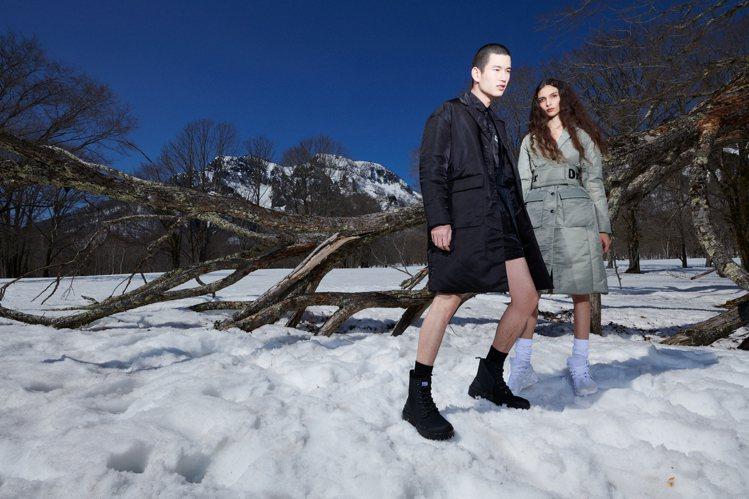 運動時尚品牌Onitsuka Tiger的秋冬系列形象廣告,選在雪地拍攝帶來視覺...