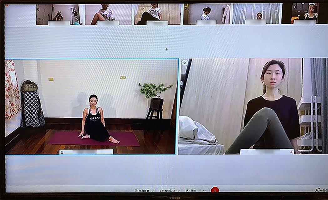 國泰產險2015年起常態性贊助鐵人隊,本次「居家清脂動」請來的教練(左),即是身...