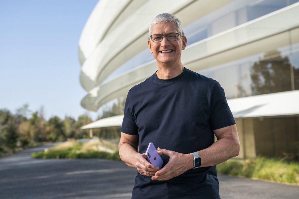 蘋果(Apple)執行庫克。  歐新社