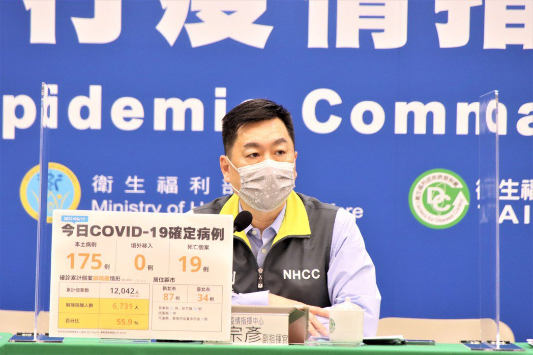 副指揮官陳宗彥今天回應,隨疫情變化觀察持續關注。圖/指揮中心提供