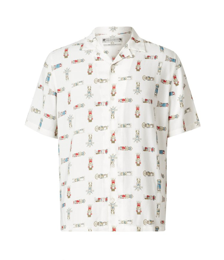 AllSaints Kachina夏威夷印花短袖襯衫5,000元。圖/AllSa...