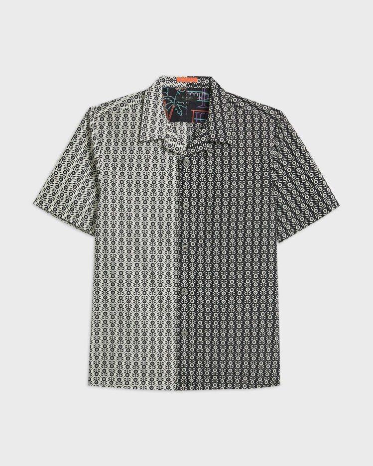 TED BAKER TRAILA花幾何混搭襯衫5,680元。圖/永三提供