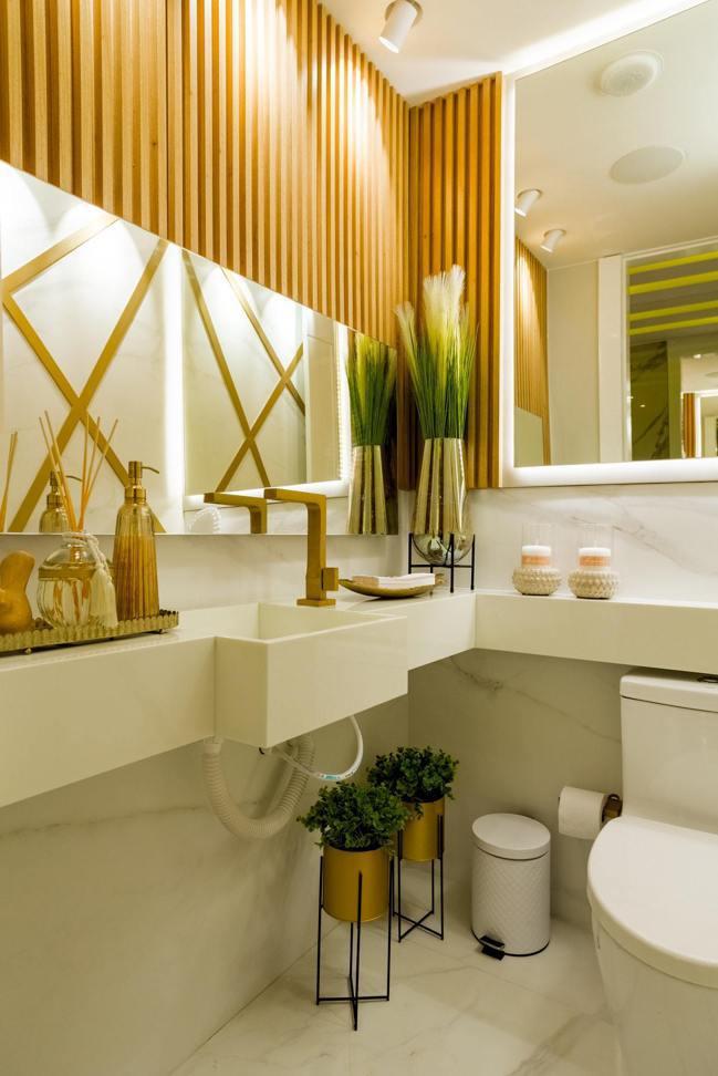 浴室可以更換收納風格,增加儀式感。圖/摘自Pelexs