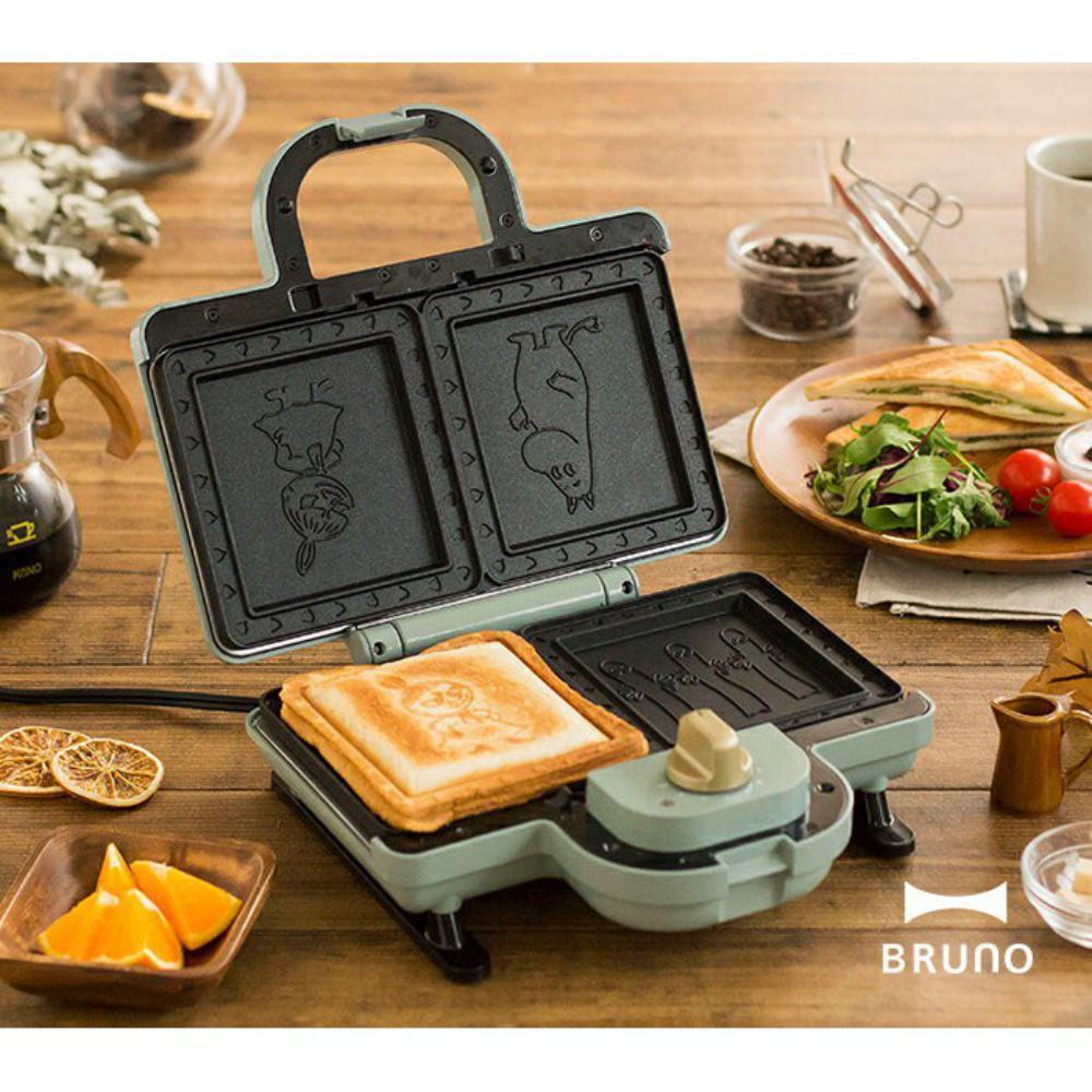 BRUNO嚕嚕米聯名款雙格三明治機3,980元。圖/新光三越提供