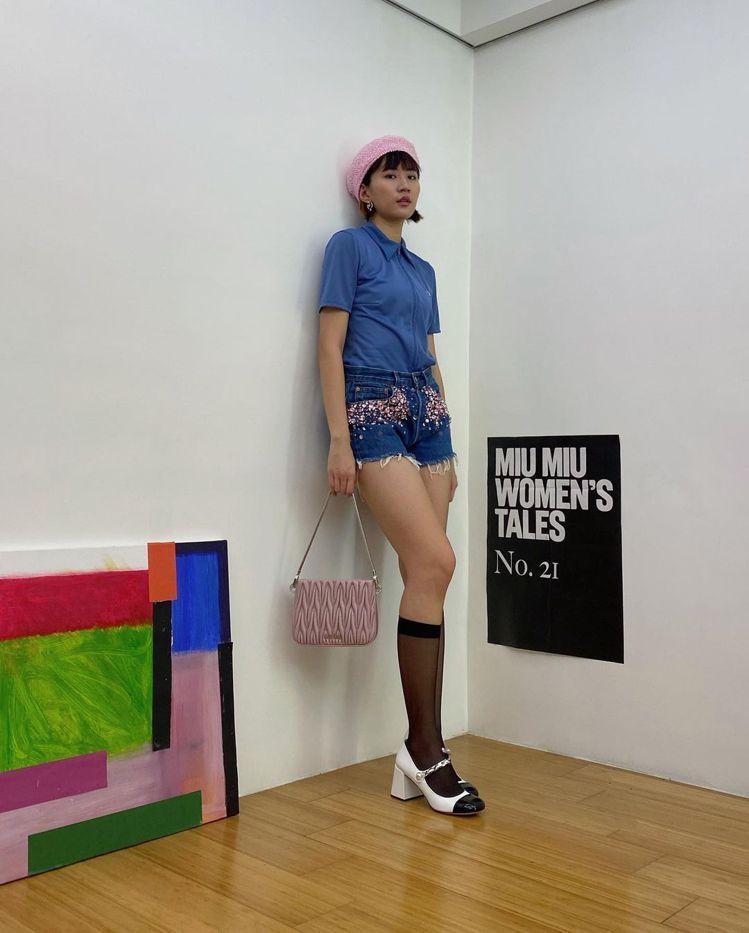 9m88以Upcycled by Miu Miu攜手Levi's® 合作系列的服...