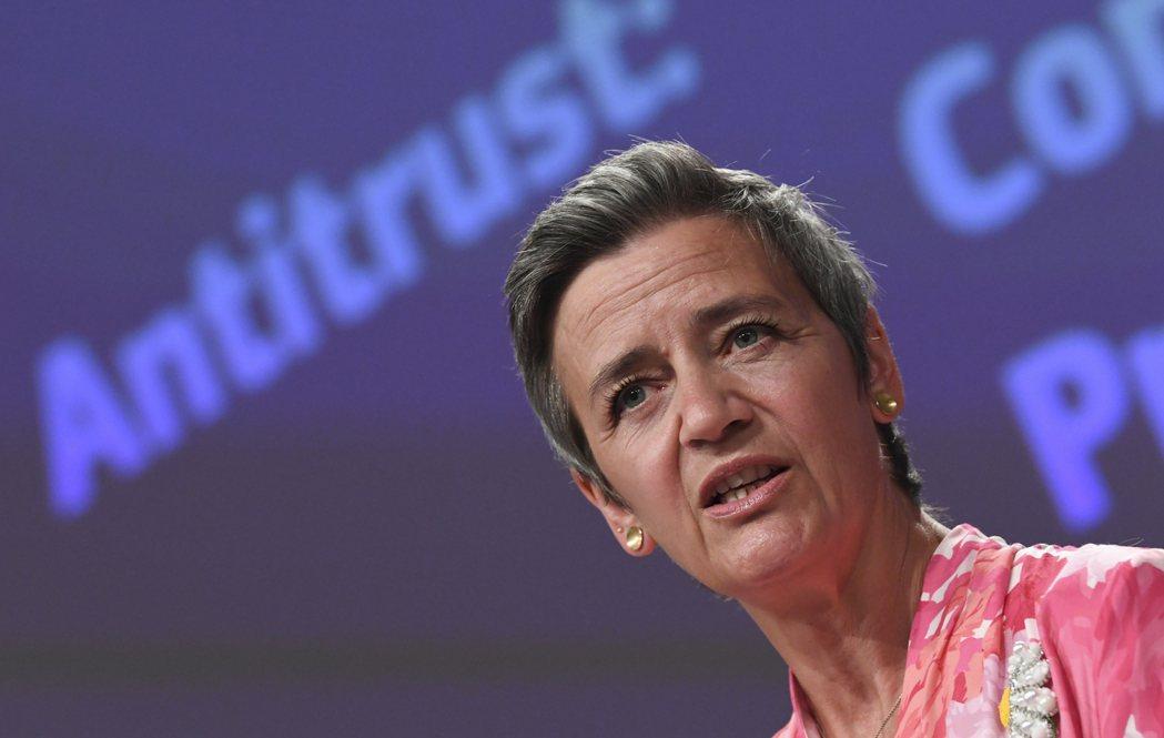 歐盟執委會副主席維斯塔格。美聯社