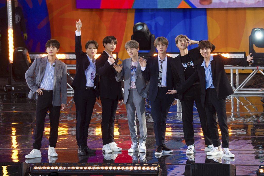 2019年BTS受邀在美國ABC電視台節目《Good Morning America》演出。 圖/美聯社