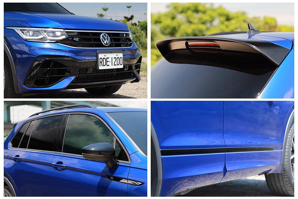 台灣銷售的福斯Tiguan R將歐洲市場需要選配的Black Style黑色套件...