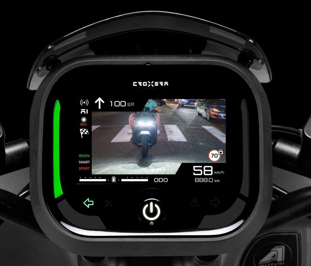 宏佳騰智慧電車推出全新Croxera6智慧儀表系統,選配指定款行車紀錄器即可升級...