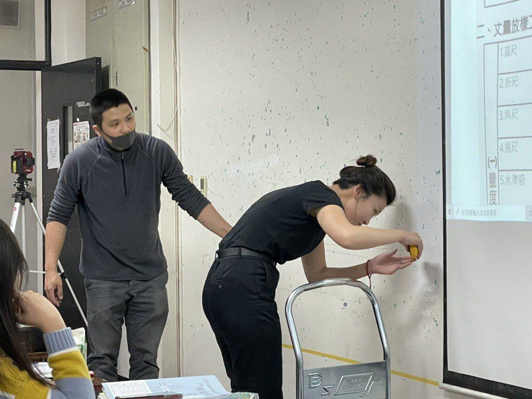大葉大學空設系室內設計實務課程教學生現場作業相關事項。 大葉大學/提供。