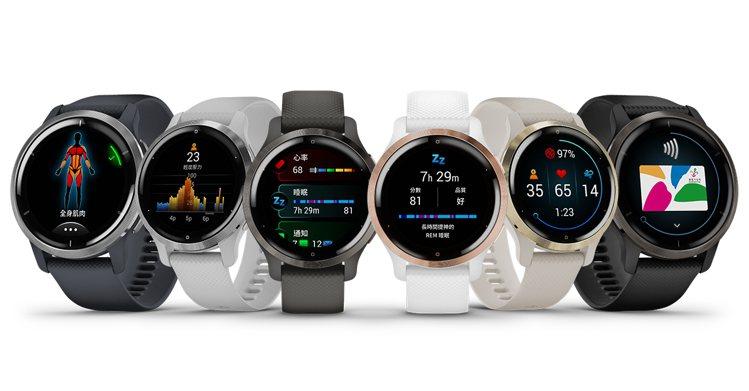 VENU 2系列GPS智慧腕表以多彩輕盈的外型設計搭載細膩鮮豔畫質的AMOLED...