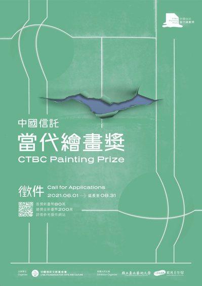 「中國信託當代繪畫獎」總獎金兩百萬元,徵件延至八月卅一日。圖/中國信託文教基金會提供