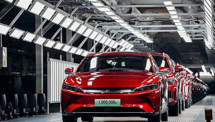 中汽協預計未來五年大陸新能源汽車銷量年均增速40%以上。圖/取自界面新聞