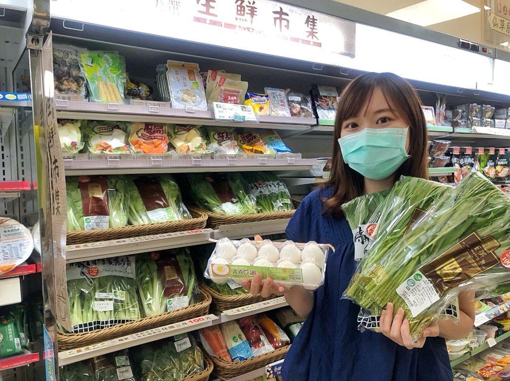 全家菜市場開張,近40款蔬菜任選,友善食光擴至蔬菜享7折。(照片提供:全家)