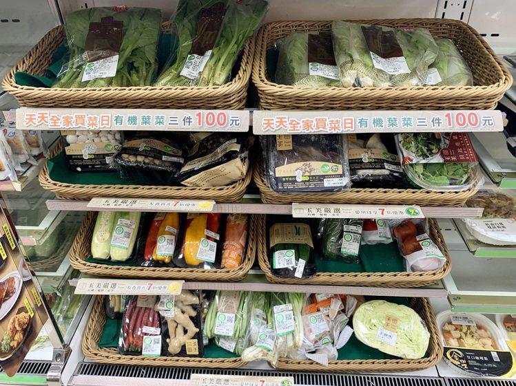 全家便利商店菜市場開張,即日起於全台約200間販售生鮮蔬菜商品的「超市機能店」提...