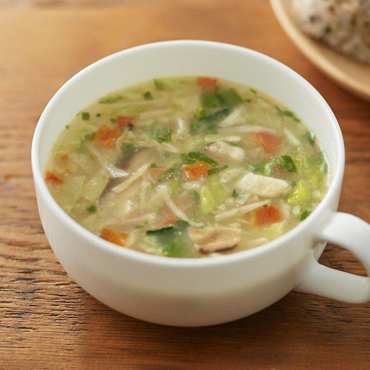 無印良品沖泡湯塊(5種蔬菜味噌白湯)/140元。圖/MUJI無印良品提供