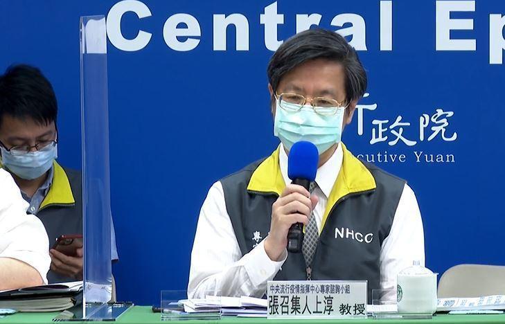 張上淳今天表示,用發冷難研判是疫苗副作用或疾病表徵。圖/取自直播畫面