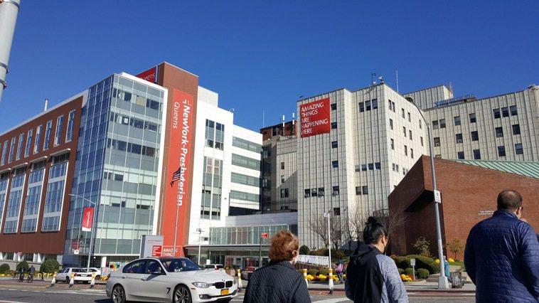 走出紐約長老會皇后醫院,在藍天下自在呼吸,真是可貴。圖/康錦卿