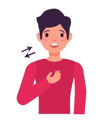確診新冠肺炎常見後遺症包括胸悶喘、疲勞、頭痛、嗅味覺喪失。圖/123RF
