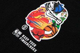 NBA Store聯名潮牌fingercroxx 翻玩經典打造致敬T恤