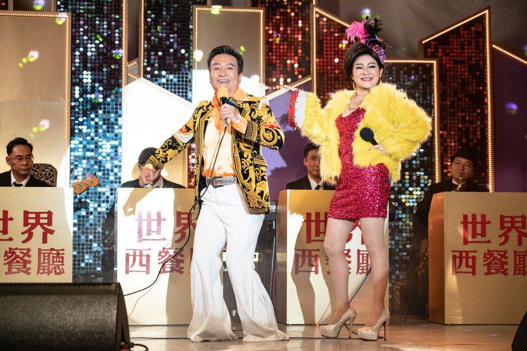 王中平(左)和王彩樺在民視八點檔「黃金歲月」中演夫妻。圖/民視提供