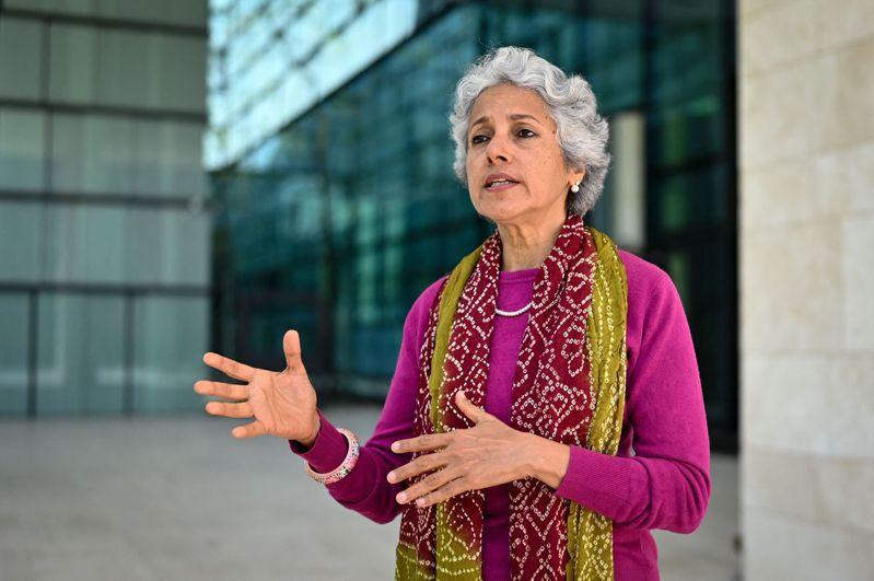 WHO首席科學家蘇米雅.史瓦米納坦18日說,最先在印度發現的新冠變種病毒株Delta,將成為全球主要流行病毒株。(法新社資料照)