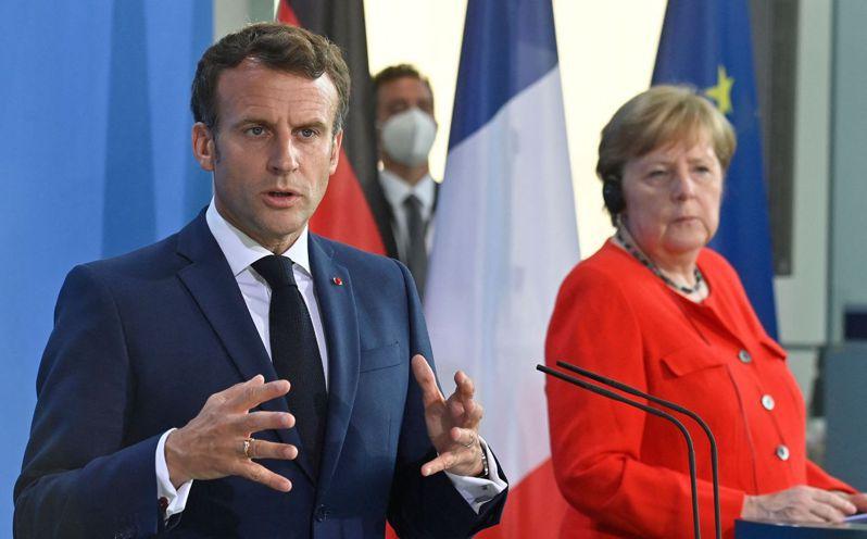 德國總理梅克爾和法國總統馬克宏周五(6月18日)在柏林舉行會晤。 法新社