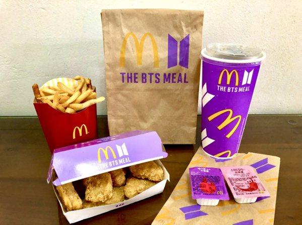 BTS麥當勞聯名套餐The BTS Meal。 圖/經理人提供,周頌宜攝影