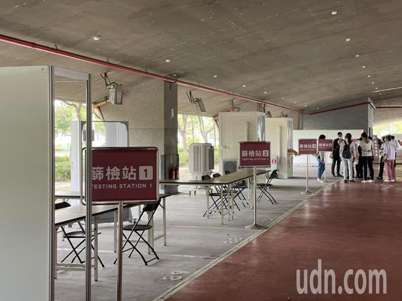 台積電不久前與奇美醫院合作在南科設立新式採檢站。記者周宗禎/攝影
