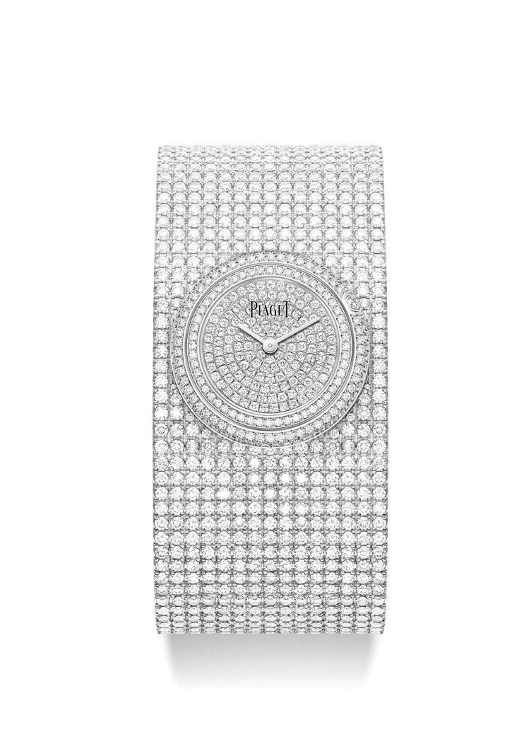 PIAGET Possession 18K白金手鐲式高級珠寶鑽石腕表,29毫米、...