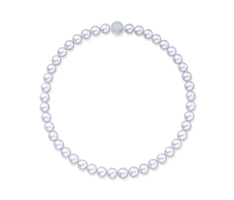 TASAKI 阿古屋珍珠項鍊,純銀、阿古屋珍珠,價格店洽。圖 / TASAKI提...