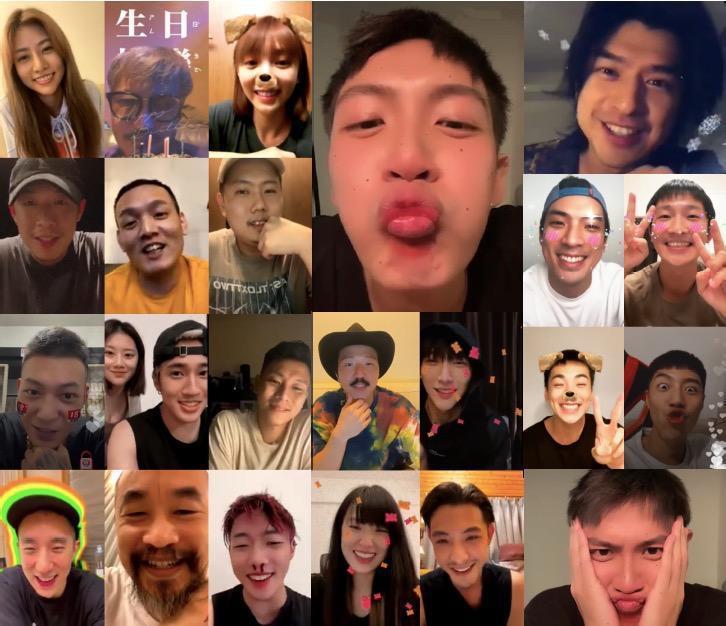 柯震東與20位星友在生日當天直播狂歡。圖/摘自IG