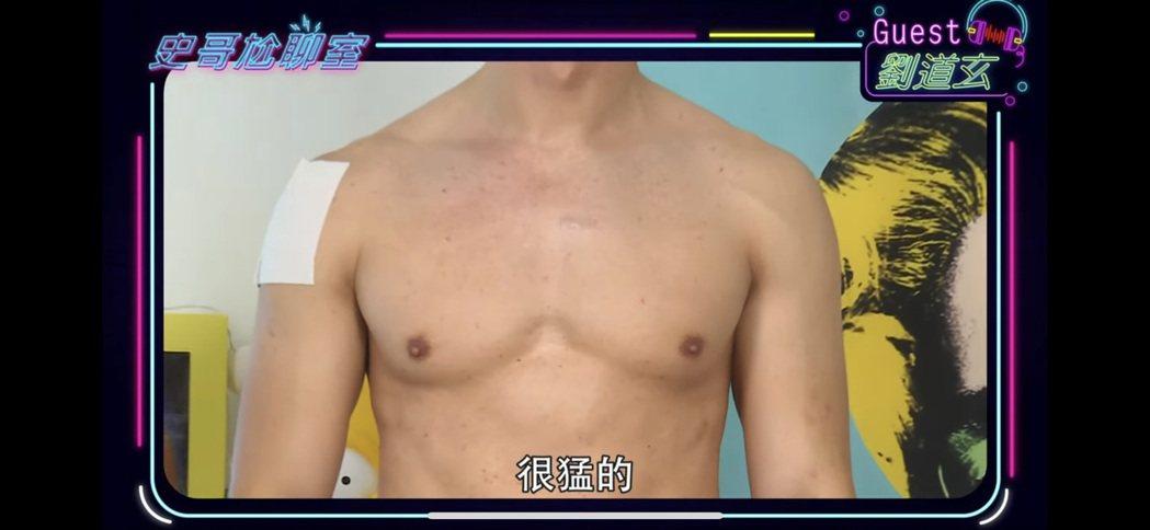 劉道玄練出肌肉拍寫真集。圖/民視提供