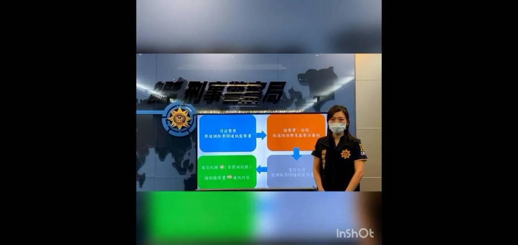 國際刑警科偵查第一隊隊長張瑋倫說明偵辦流程。記者廖炳棋翻攝