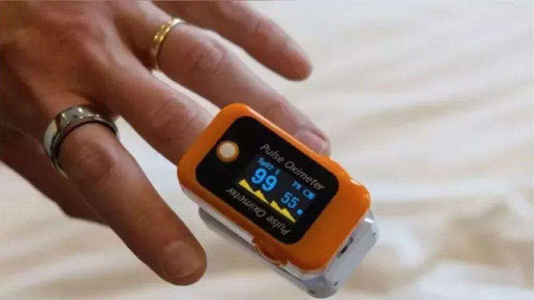 血氧濃度偵測儀。圖/法新社