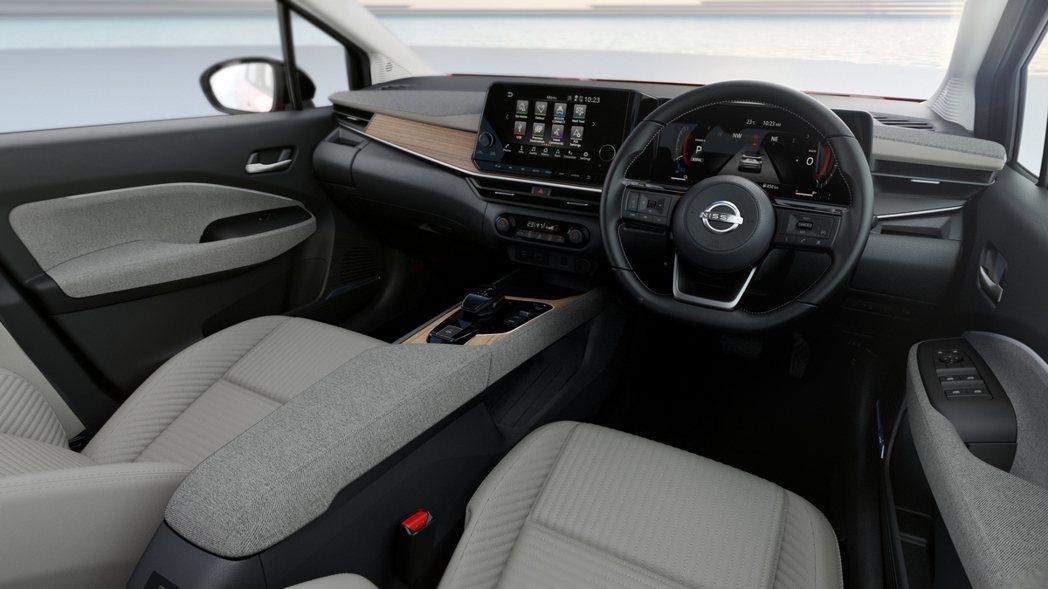 AURA擁有以往小車沒有的多樣化內室選擇與材質搭配。 摘自Nissan.jp