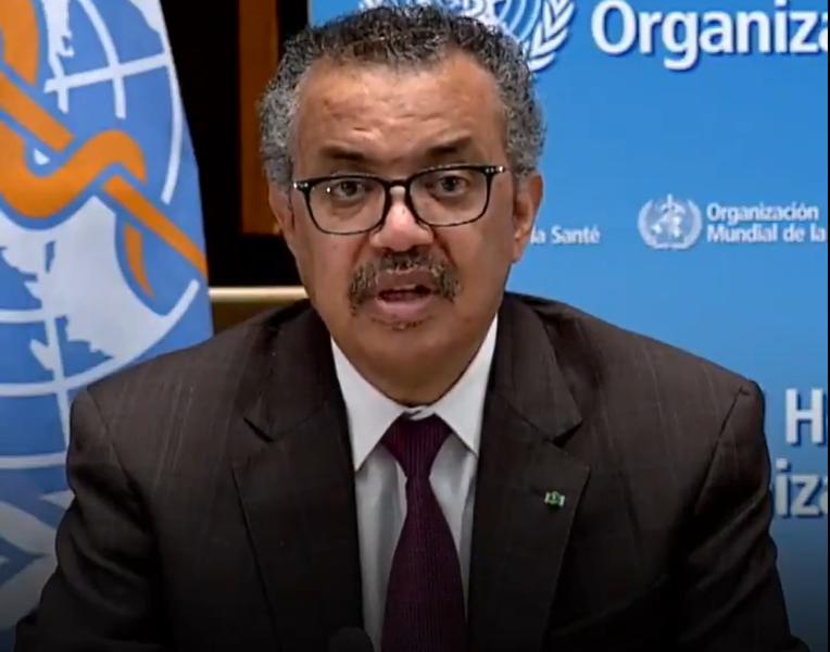 世衛組織總幹事譚德塞宣布,西非國家幾內亞的今年2月爆發的伊波拉疫情已終結。(photo by Twitter @DrTedros )