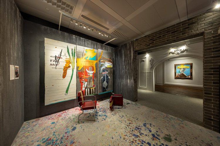 領銜拍品尚米榭巴斯奇亞1985年創作的「無題」與畢卡索1969年油畫作品「男子半...
