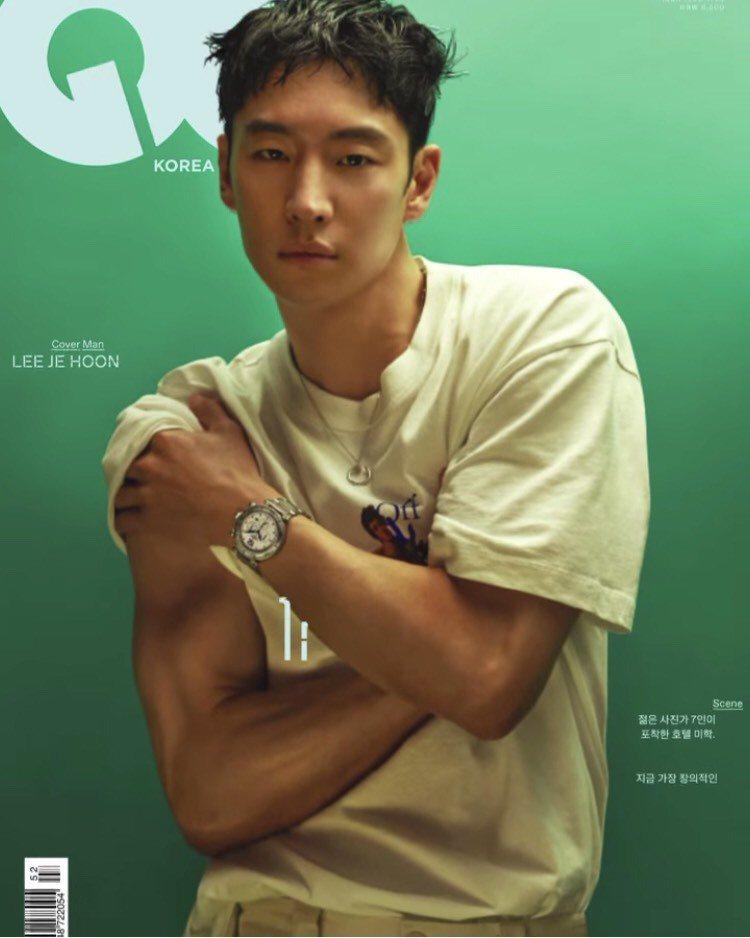 李帝勳配戴卡地亞腕表登上南韓男性時尚雜誌封面。圖/取自IG @gq_korea