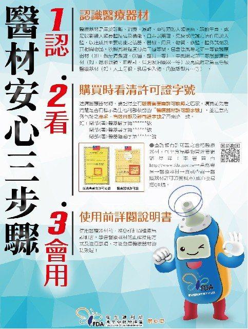 彰化縣衛生局提醒,醫療用血氧濃度機為第二級醫療器材,未開放網路買賣,民眾在選購時...