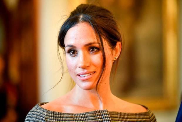 梅根據傳對兒女可能永無王子、公主頭銜非常不滿,才會公開槓上皇室。(路透資料照片)