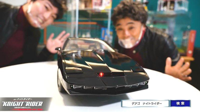 De Agostini日本子公司推出周刊「Knight Rider」,拼裝搭配雜誌出售的模型零件,能以8分之1大小忠實呈現李麥克的「夥計」。圖/翻攝自YouTube/De Agostini TV
