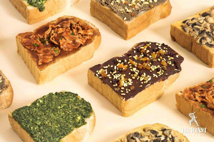海吐司推出5款口味的厚片加料吐司。圖/Hi, TOAST 海吐司提供