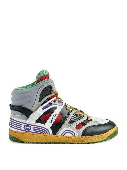 Basket彩色高筒鞋,35500元。圖/GUCCI提供