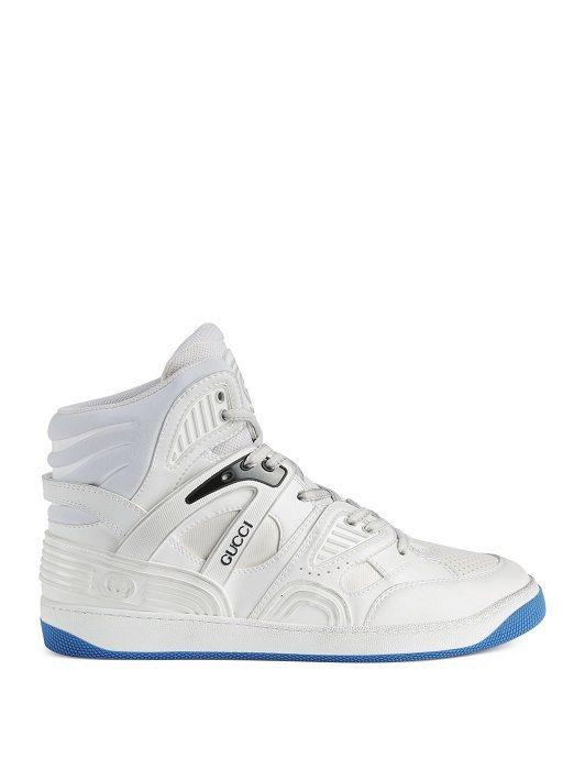 Basket白色高筒鞋,35500元。圖/GUCCI提供