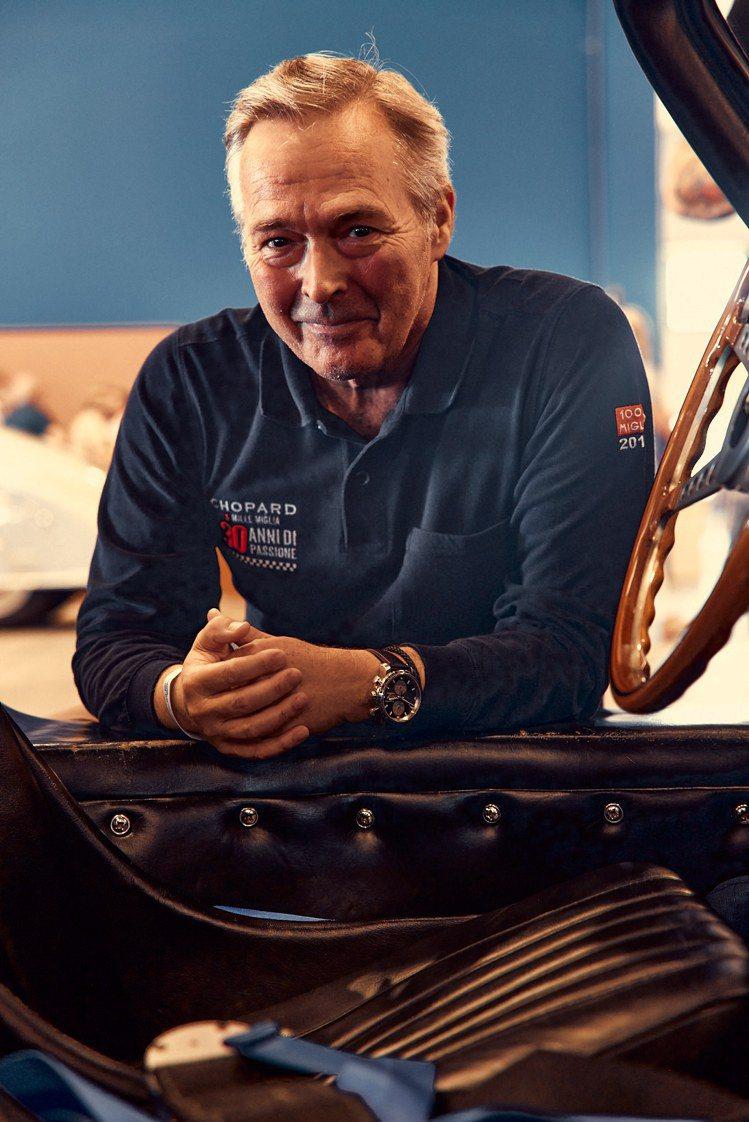 蕭邦聯合總裁兼Mille Miglia千里賽長期參賽者Karl-Friedric...