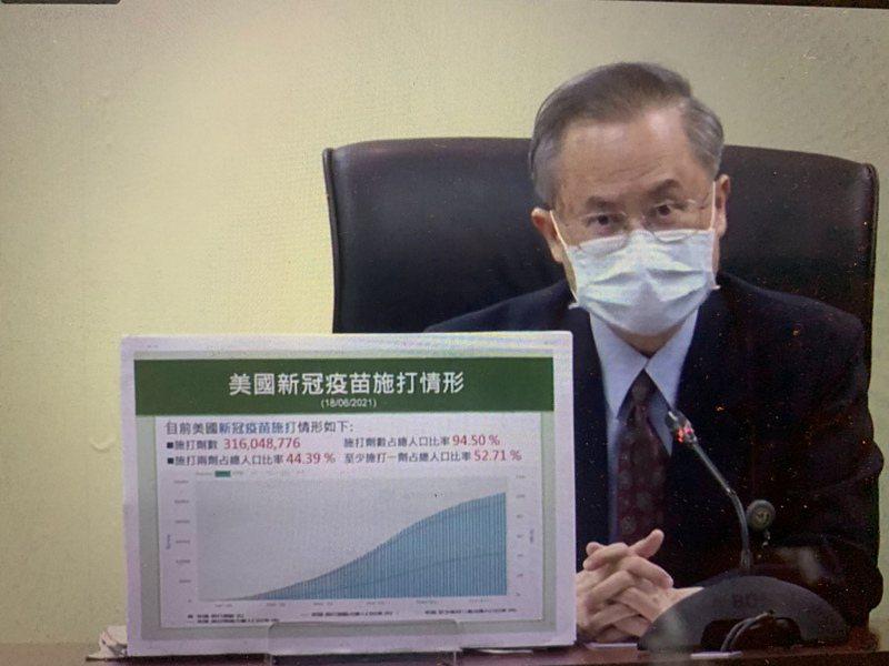 高醫院長鍾飲文表示,接種完疫苗要定時量測體溫多喝水,但洗腎病人要記得打完不能喝太多水。記者徐如宜/翻攝