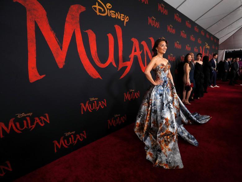 溫明娜去年也曾客串真人版「花木蘭」電影,也出席了首映會。(路透資料照片)